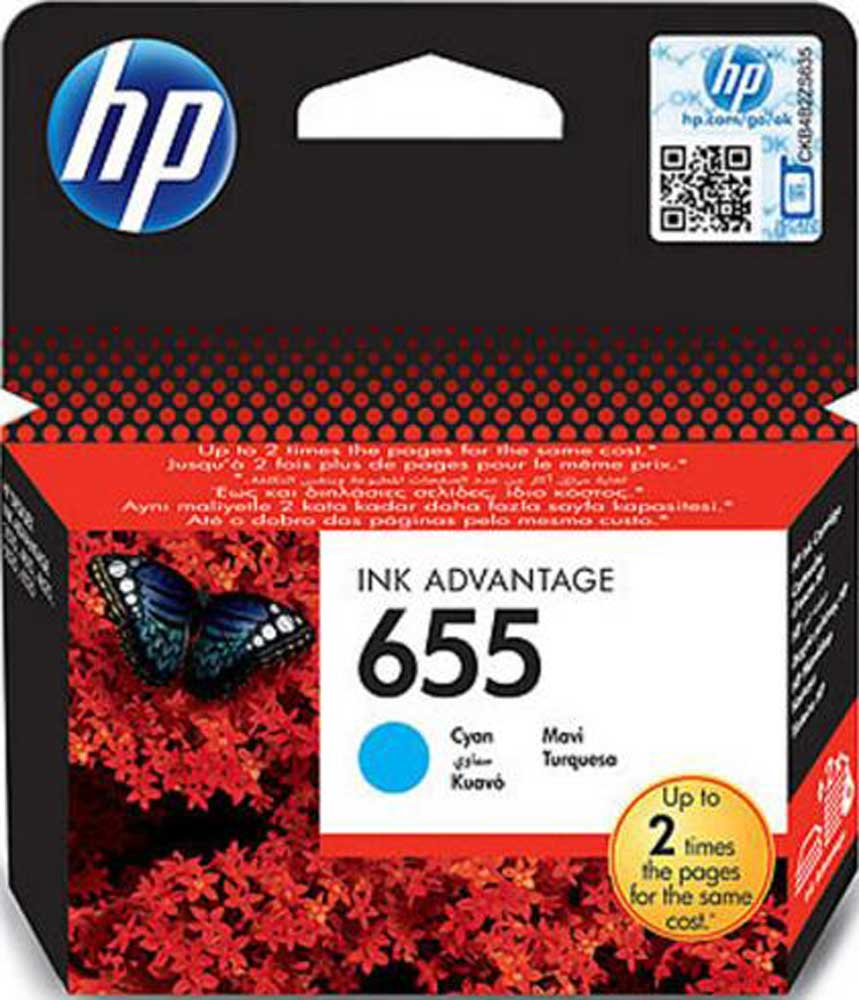 Μελάνι HP 655 Cyan Ink Cartridge